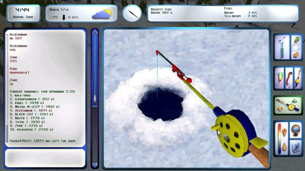Вышла новая версия симулятора зимней рыбалки Propilkki 2 v1.4.2