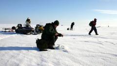 В Новомосковске «провалились» соревнования по подледному лову рыбы